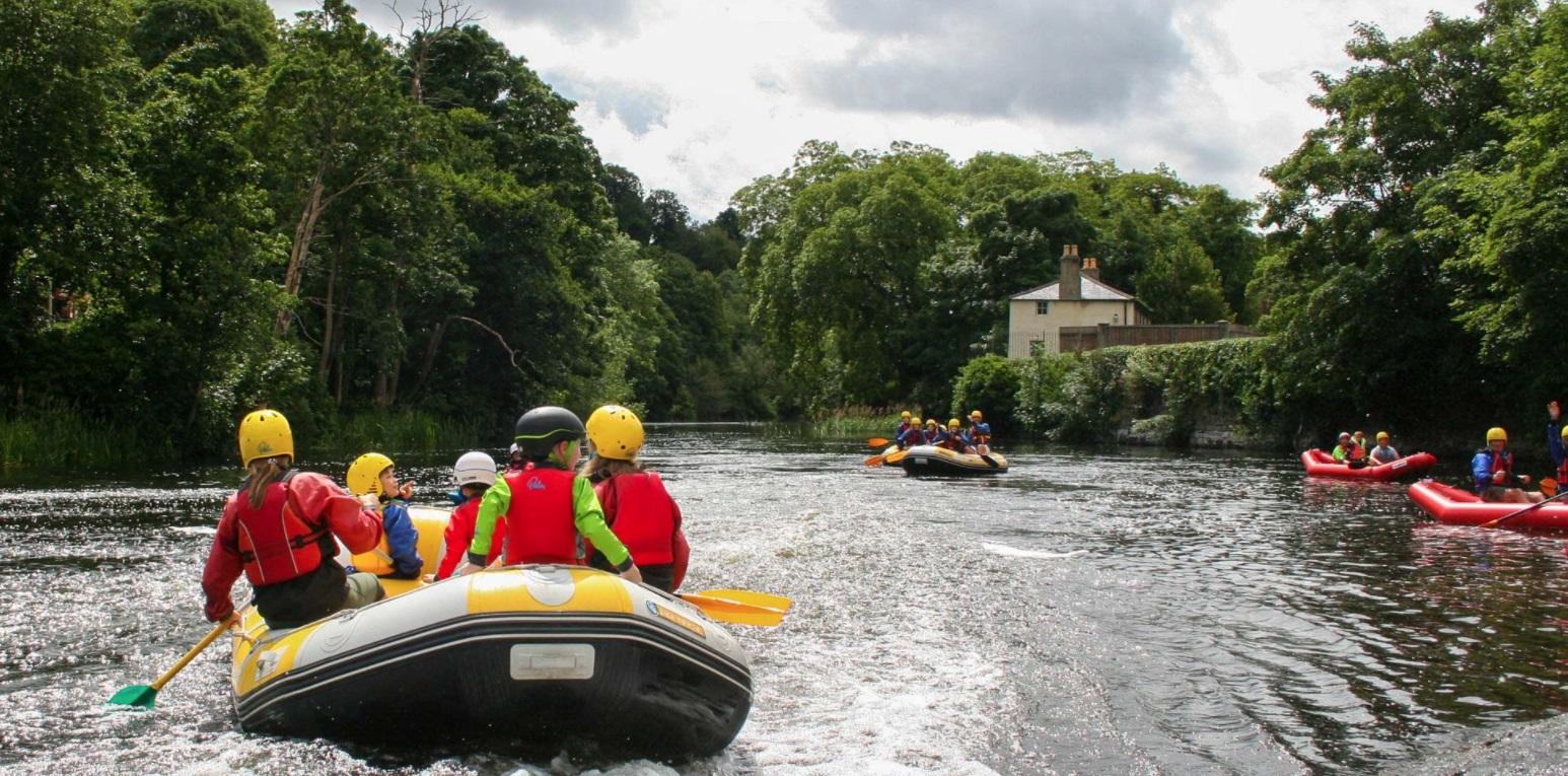 White water rafting in Dublin